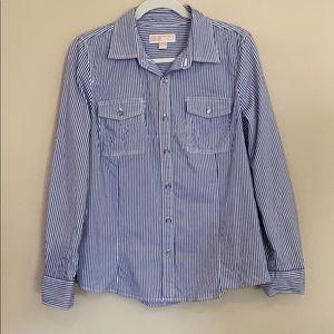 Michael Kors Long Button Up Sleeve Blouse Size 12
